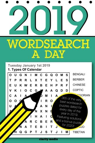 Wordsearch a Day 2019: 366 dated word search puzzles