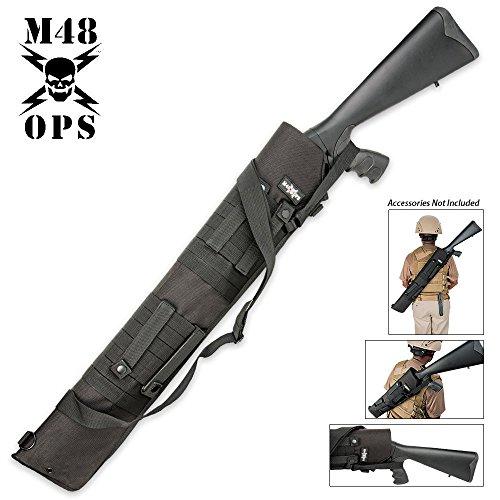 (M48 OPS MOLLE Compatible Tactical Shotgun Scabbard - Black)