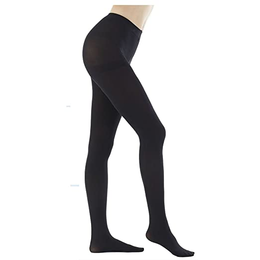 2478579af46b0 DZSbestdeal Women's 280 Denier Opaque Solid Color Footed Pantyhose Tights, Black,One Size :