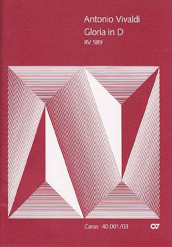 Gloria d-Dur Rv 589. Klavierauszug