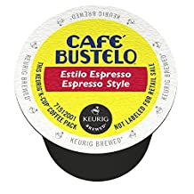 Cafe Bustelo Espresso Style Coffee K-Cup for Keurig Brewers, 96-Count