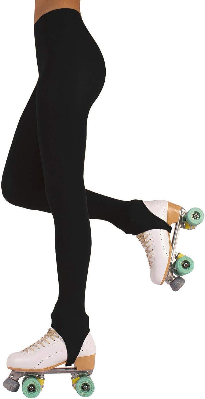 CALZITALY Medias con Estribo Para Mujer | Patinaje Artístico | Professional Skating | Natural, Negro, Caramelo | 70 Den | S, M, L | Calcetería Italiana |