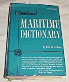 img - for International Maritime Dictionary by Rene de Kerchove Hardback 1961 book / textbook / text book