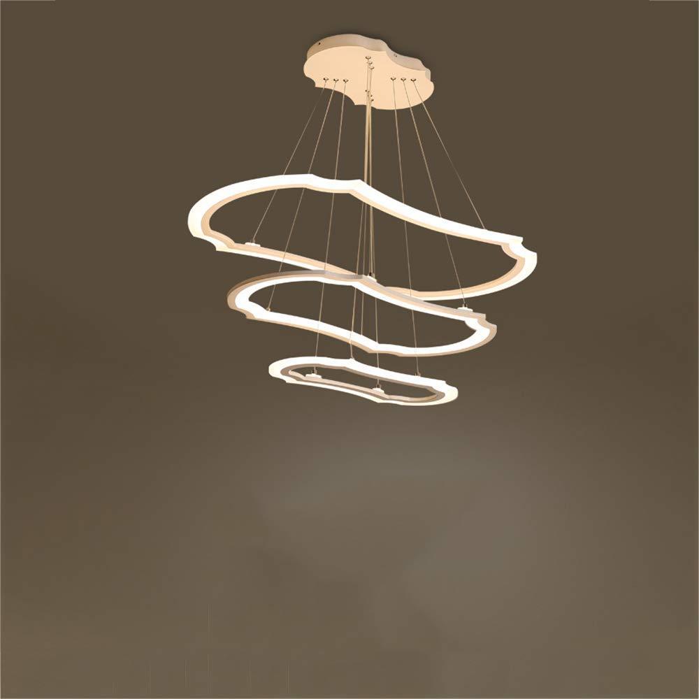 現代のシンプルなledペンダントライト、アクリルアート3リング吊りランプ用レストランリビングルームホームベッドルームオフィス照明シーリングライト (色 : : 暖かい光, サイズ さいず : B07Q81JBQX 3floors) 暖かい光 B07Q81JBQX 暖かい光 2floors 2floors|暖かい光, カメヤマシ:cd8fff4e --- m2cweb.com