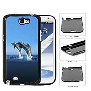 Dolphins Swimming In Ocean Hard Plastic Snap On Cell Phone Case Samsung Galaxy Note 2 II N7100