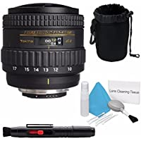 Tokina 10-17mm f/3.5-4.5 AT-X 107 AF DX NH Fisheye Lens for Nikon (International Model) No Warranty + Deluxe Cleaning Kit + Lens Cleaning Pen + Deluxe Lens Pouch Bundle 4