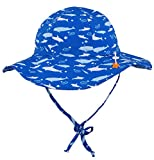 Jasmine Boys' Printed UPF 50+ Sun Protection Safari Bucket Floppy Hat,12-24 Months