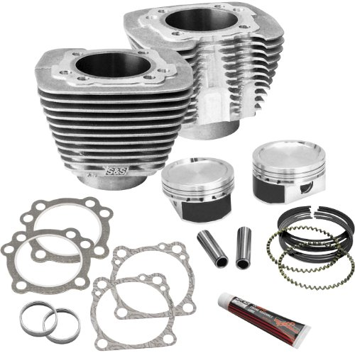 S&S 3.5 in. bore Cylinder and Piston Conversion Kit for Harley Davidson 1986-2013 Sportster models - 3.5 - 1200 Conversion