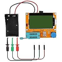 12864 Mega328 ESR Transistor Resistor Diodo Capacitor Mosfet Tester con gancho de prueba