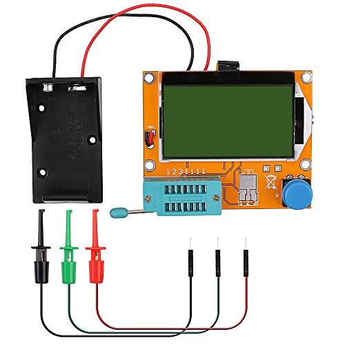 12864 Mega328 ESR Transistor Resistor Diode Capacitor Mosfet Tester w/ Test hook Transistor Test