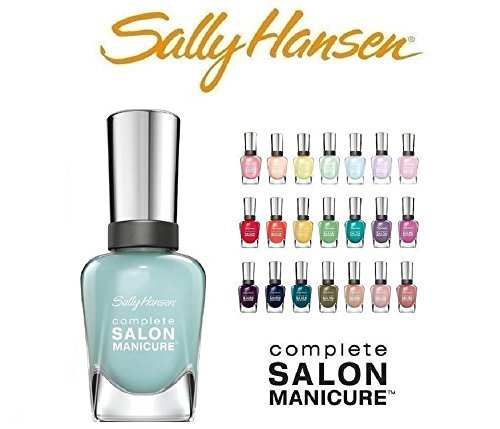 Sally Hansen Salon Manicure Finger Nail Polish Color Lacquer All Different Colors No Repeats Set of 10 ()
