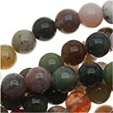 Indian Agate Color Mix - 4mm Round Beads /15.5 Inch Strand