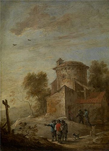 Polyster Canvas ,the High Definition Art Decorative Canvas Prints Of Oil Painting 'David Teniers II - Morning, 17th Century', 18x25 Inch / 46x63 Cm Is Best For Dining Room Gallery Art And Home Artwork And Gifts