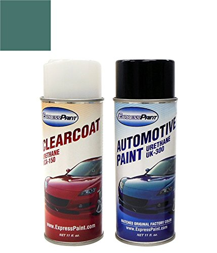 Gmc Bermuda Yukon (ExpressPaint Aerosol GMC Yukon Automotive Touch-up Paint - Bermuda Blue Metallic Clearcoat 26/WA214M - Color + Clearcoat Package)