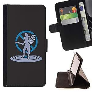 Jordan Colourful Shop - cool art no violence stop bat For Samsung Galaxy S6 - < Leather Case Absorci????n cubierta de la caja de alto impacto > -