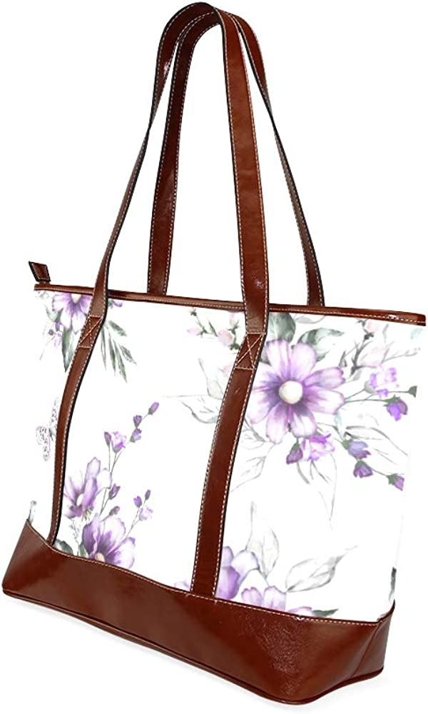 Tote Bags Flowers Set Floral Bouquet Travel Totes Bag Fashion Handbags Shopping Zippered Tote For Women Waterproof Handbag