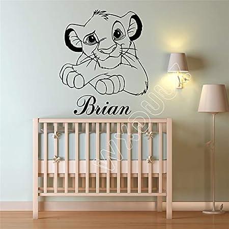 Lion King Art Decor Nombre Personalizado Dibujos Animados Etiqueta ...