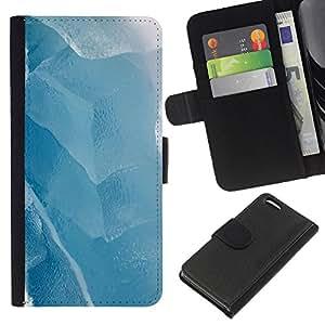 WINCASE Cuadro Funda Voltear Cuero Ranura Tarjetas TPU Carcasas Protectora Cover Case Para Apple Iphone 5C - blanco hielo lago de invierno