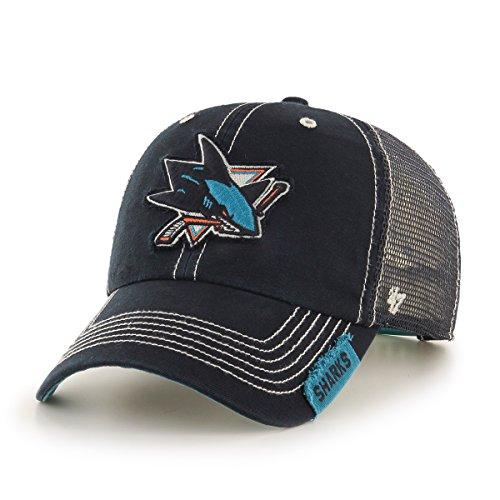 NHL San Jose Sharks Turner Clean Up Adjustable Hat, One Size, - Jose San Sharks Socks Hockey