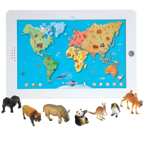 Animal Replicas (Constructive Playthings CPX-661 CP Toys Interactive Animal Board with over 500 Facts and 12 pc. World Animal Replica Figurines)