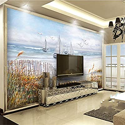 Gran fondo de pantalla personalizado mural Windsurfing 3D ...