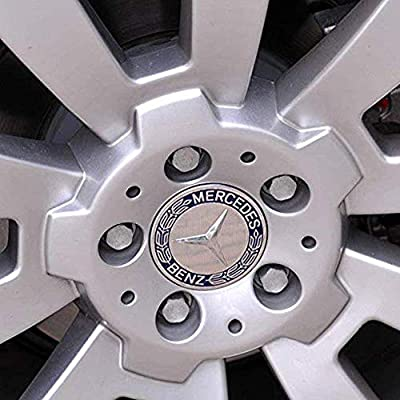 4 Pieces 75mm Dark Blue Center Wheel Hub Caps for Mercedes-Benz,Applicable to All Models: Automotive