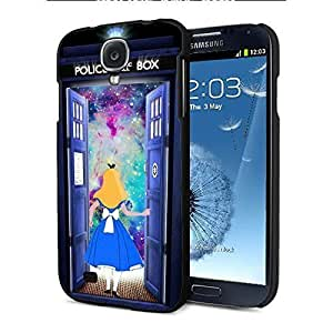 Alice in Wonderland and Tardis Doctor Who Available for For HTC One M9 Phone Case Cover s/5c,6 Samsung For HTC One M9 Phone Case Cover s4,s5 (Samsung For HTC One M9 Phone Case Cover Black)