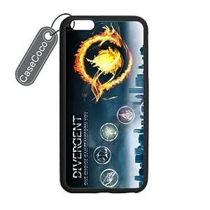 CASECOCO(TM) Divergent iPhone 6 Plus Case - Protective Hard Back / Black Rubber Sides Case for iPhone 6 Plus (5.5-inch)