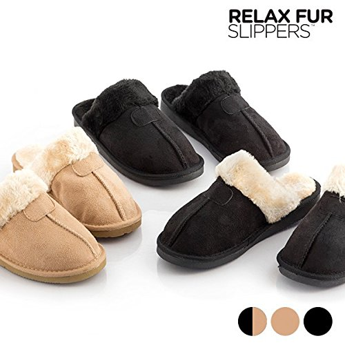 Zapatillas de Casa Relax Fur Slippers (38, Marrón)
