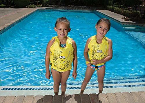 (Poolmaster 50580 Learn-to-Swim Hungry Frog Kid's Swim Vest, 1-3 Years)