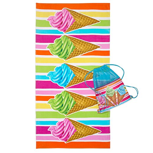 3C4G Ice Cream Cones Towel
