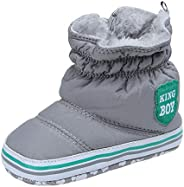 Kuner Toddler Baby Boys Plush Winter Warm Snow Boots First Walkers Shoes
