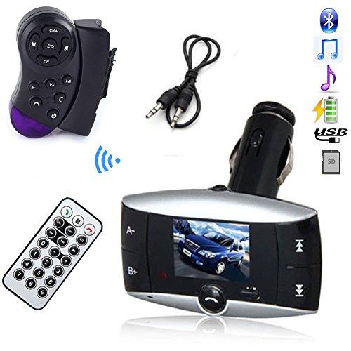 1.5'' LCD Car Bluetooth Mp3 Player Wireless Steering Wheel F