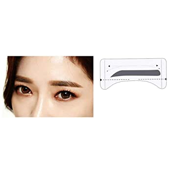 8 Pairs Grooming Shaping Eyebrow Template Stickers Eyebrow Stencils