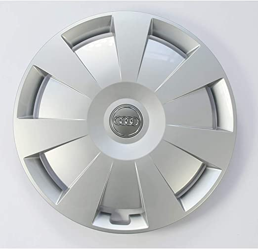 Audi 8v0601147c Radzierkappe 1 Stück Radkappe 16 Zoll Radzierblende Kappe Silber Auto