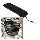High Capacity Foldable Shopping Cart Trolley Bag For Shopping Black