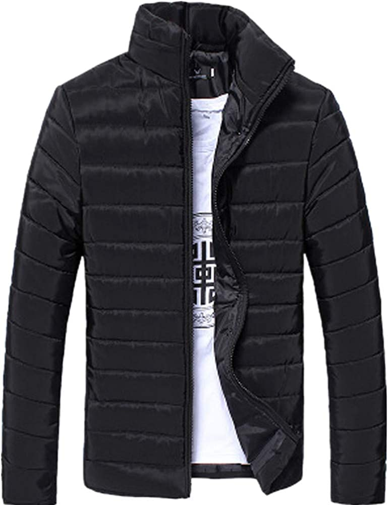 Fashion Mens Winter Hooded Thick Padded Jacket Zipper Slim Outwear Coat Warm