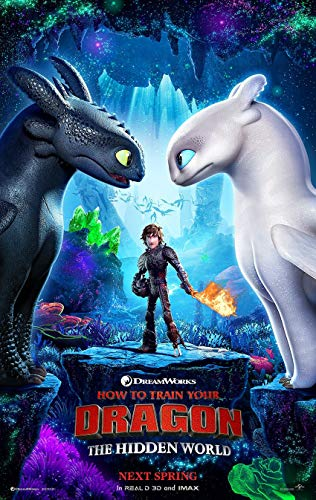 (HOW TO TRAIN YOUR DRAGON 3 THE HIDDEN WORLD MOVIE POSTER 2 Sided ORIGINAL Advance 27x40)