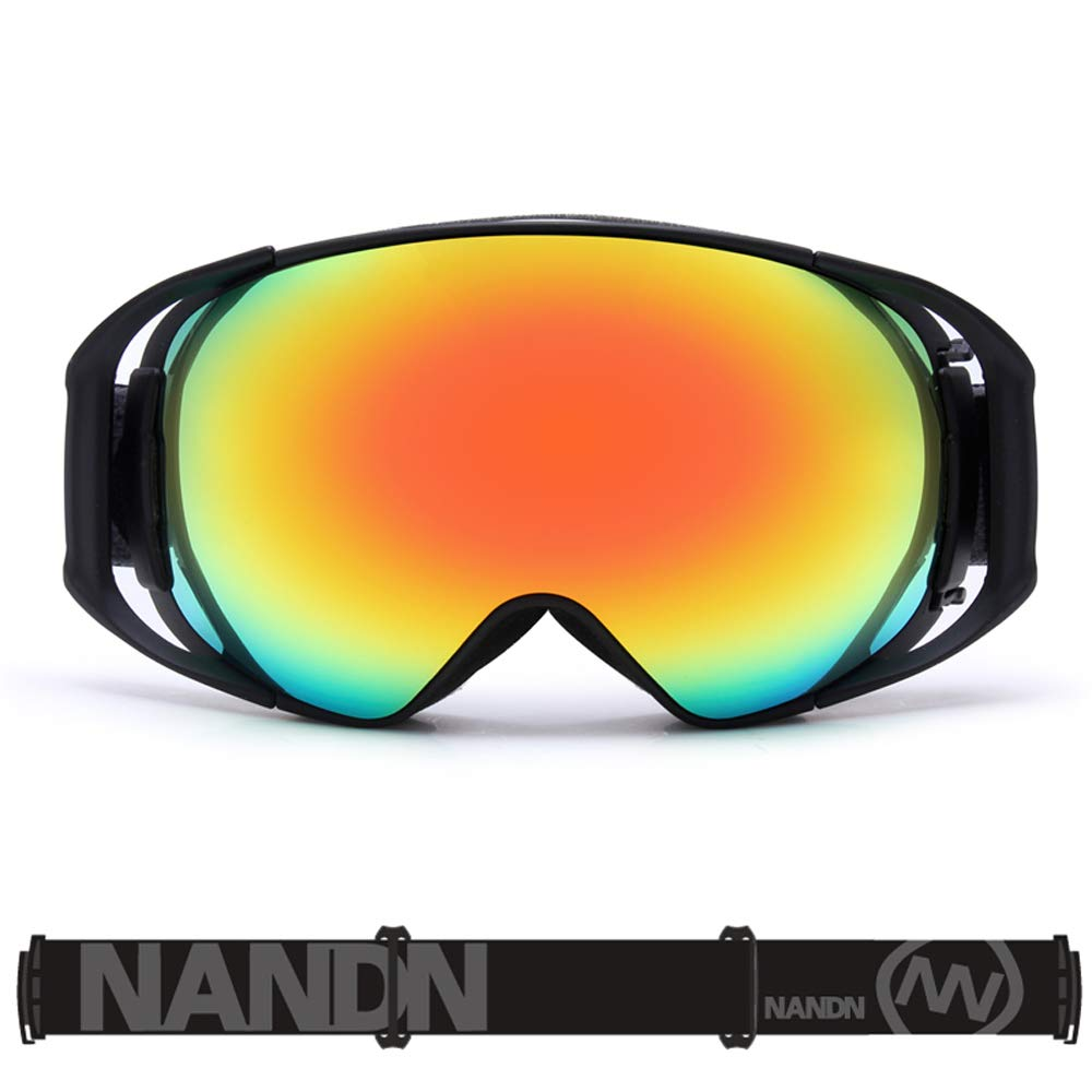 A 16.89.5cm Ski Goggles, Snowboard Goggles OTG for Men's Womens Ladies Youth Adult Anti-Fog Jet Snow Skiing Skis Goggles