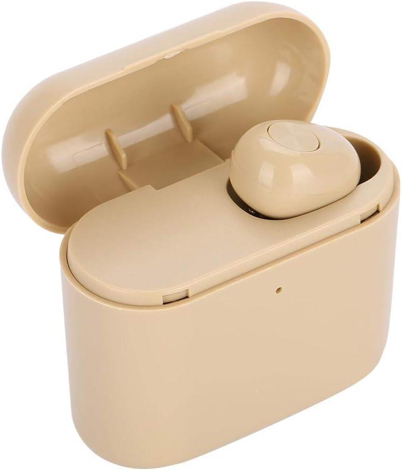 Eboxer Auriculares Inalámbricos Bluetooth con Caja de Carga, Mini Auriculares Invisibles Portátiles con Cancelación de Ruido HiFi Admite Llamadas de Manos Libres para Teléfonos Computadoras iPad(Oro)