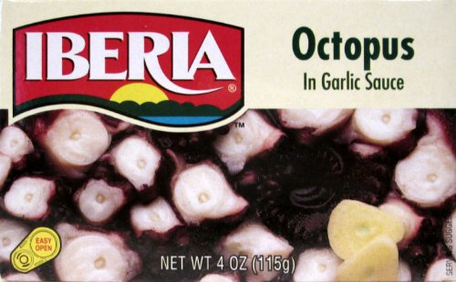 Iberia Octopus in Garlic Sauce (Pack of 3) 4 oz Cans by Iberia