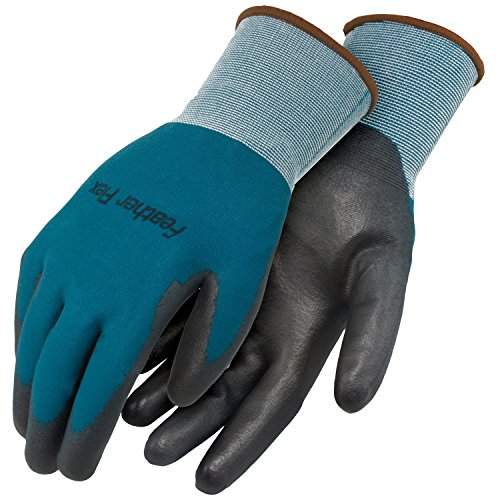 Galeton 12833-S Feather Flex Comfort B18 PU Coated Finely Knit Nylon Gloves (Pack of 12), Small, Blue/Black