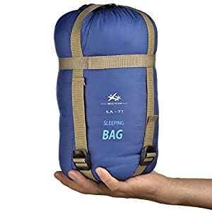 BESTEAM Warm Weather Sleeping Bag, Waterproof, Lightweight, Great Adults & Kids, Family Camping, Backpacking, Traveling, Hiking, Outdoor Activities, Spring, Summer & Fall(Dark Blue)