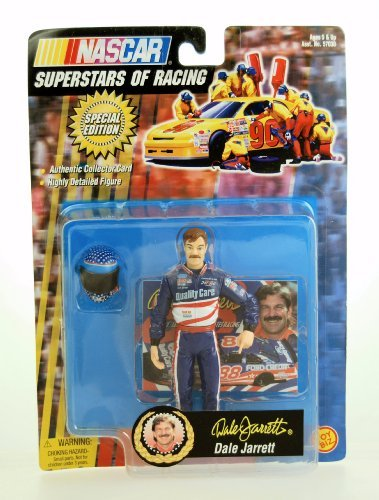 1998 - Toy Biz - NASCAR - Superstars of Racing Series - Special Edition - Dale Jarrett #88 - w/ Accessories - Ford Quality Care - 4 Inch Figure - (Robert Yates Racing)
