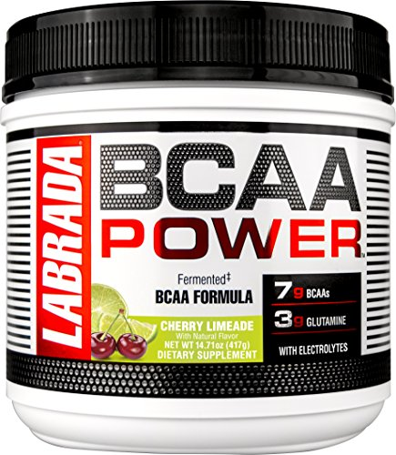 LABRADA NUTRITION – BCAA Power Powder, Fermented Amino Acids with Glutamine & Electrolytes, Muscle Building Post Workout Supplement, 30sv