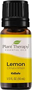 Plant Therapy Lemon Essential Oil 10 mL (1/3 oz) 100% Pure, Undiluted, Natural Aromatherapy, Therapeutic Grade