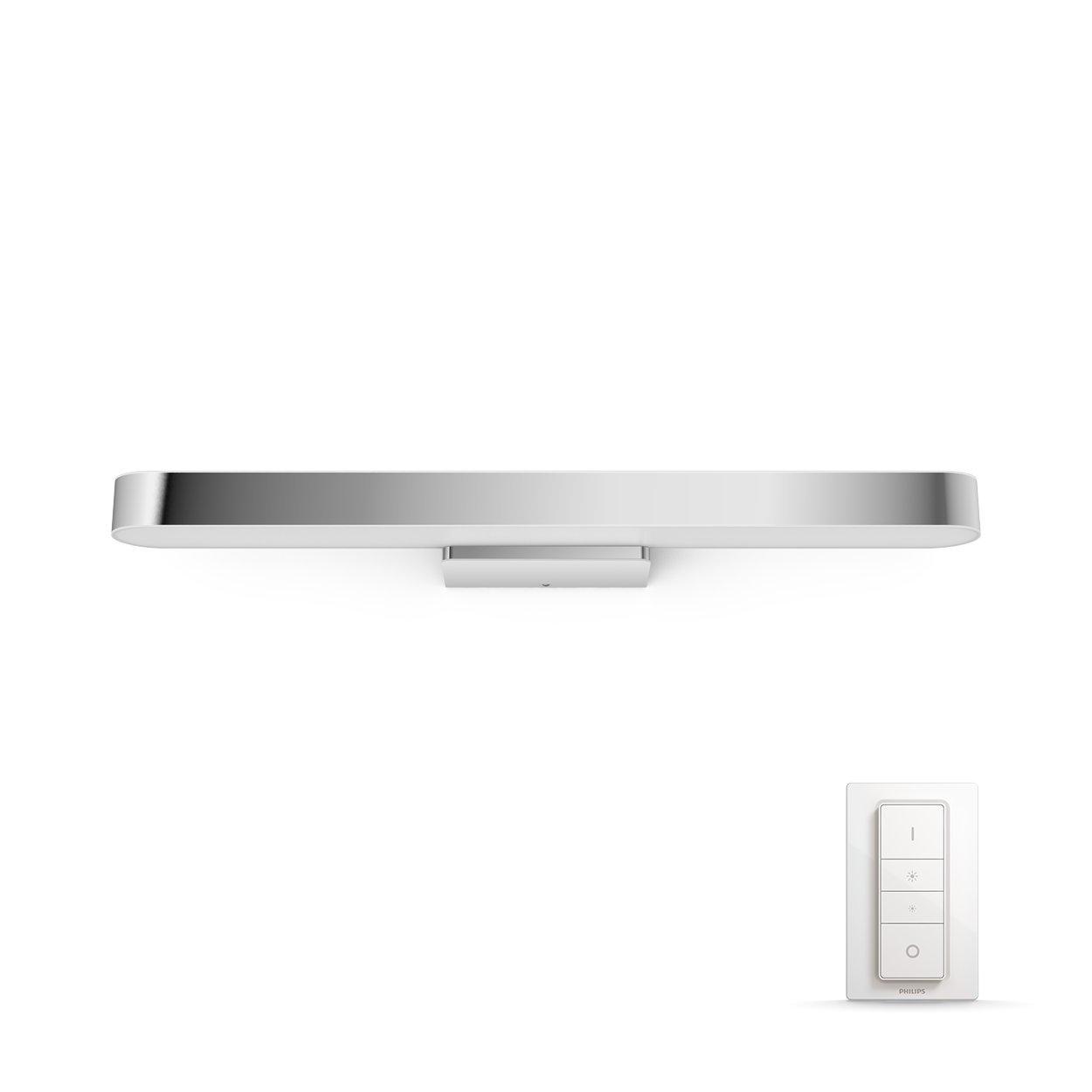 Philips Hue LED Spiegelleuchte Adore, dimmbar, alle Weißschattierungen, steuerbar via App, kompatibel mit Amazon Alexa (Echo, Echo Dot), weiß