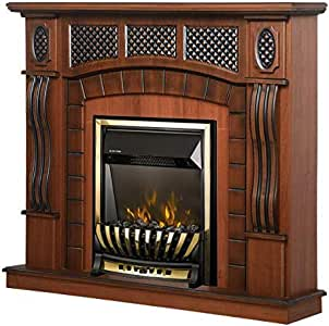 2000 W Art Flame Chimenea el/éctrica Amsterdam marr/ón y Meridian Control Remoto