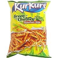 Kurkure Snacks - Green Chutney Rajasthani Style, 47g Pouch