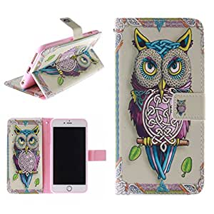 imagexia - For iphone 6 plus Case , [WALELT CASE] With Card Slot Style Cool [OWL Series] Premium PU Leather [Stand View] Flip Skin Cover For Apple iphone 6 plus [5.5inch]